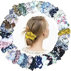18 pack of assorted design scrunchies